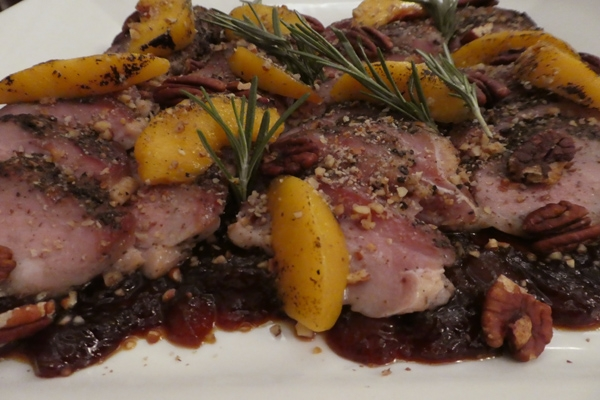 Smoked Duck Breast with Currahee Sunrise Peach Glaze